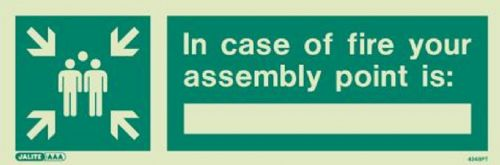 (4248) Jalite In case of fire your assembly point is: Sign